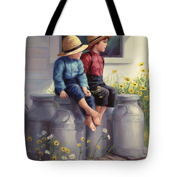 Waiting For Mama Tote Bag