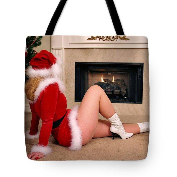 Waiting For Santa Tote Bag