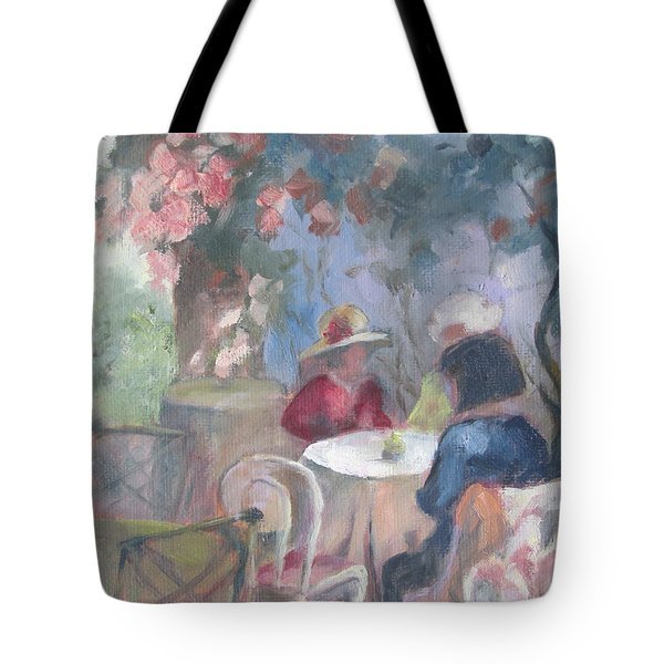 Waiting For Tea Tote Bag by Susan Richardson