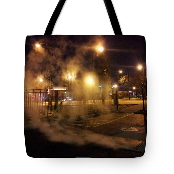 Waiting For The Bus Tote Bag