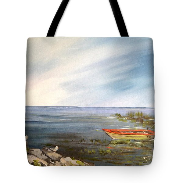 Waiting For The Fisherman Tote Bag by Dorothy Maier