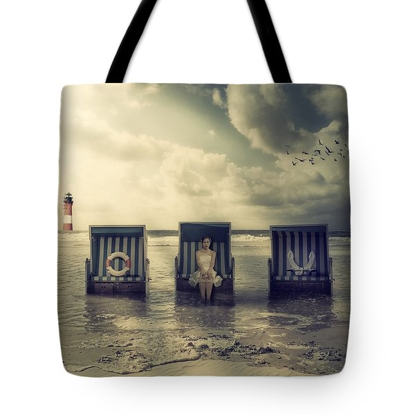 Waiting For The Flood Tote Bag by Joana Kruse