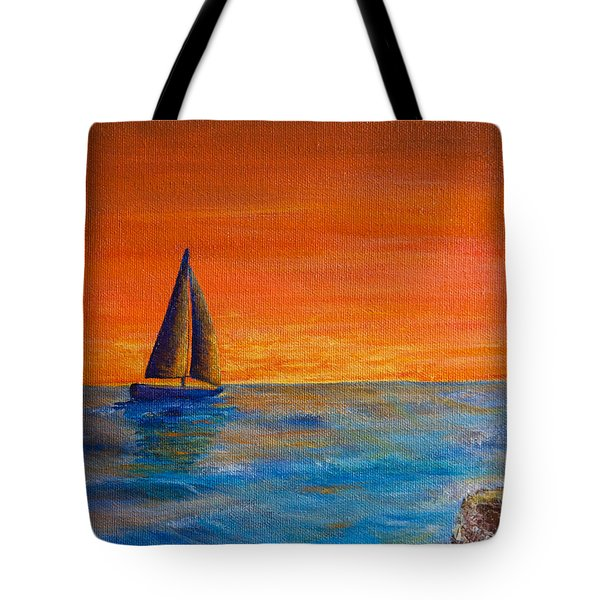 Waiting For The Green Flash Tote Bag
