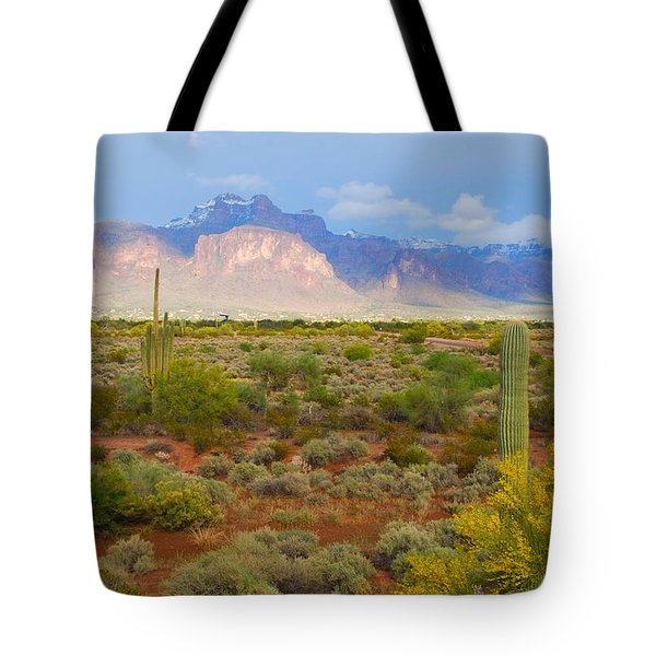 Tote Bag featuring the photograph 16x20 Canvas - Superstition Mountain Light by Tam Ryan