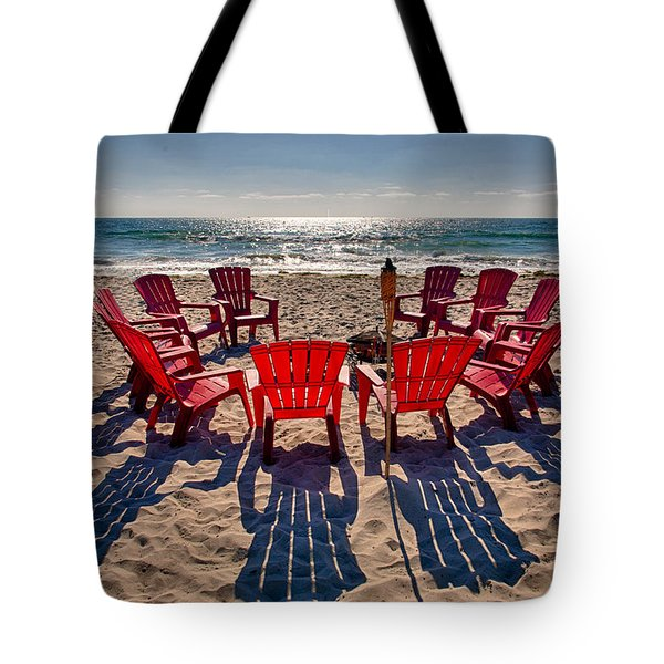 Waiting For The Party Tote Bag by Peter Tellone