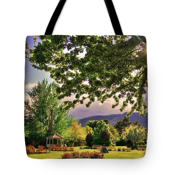 Waiting For The Roses To Bloom Tote Bag by Eti Reid