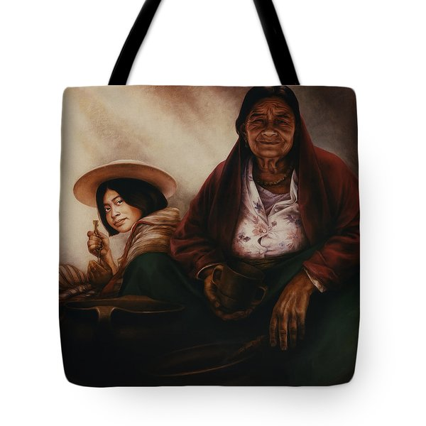 Waiting For The Sunset Tote Bag by Yvonne Wright