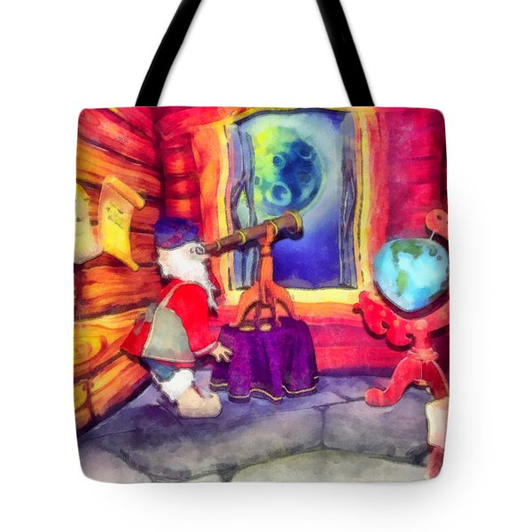 Waiting For The Super Star Tote Bag by George Rossidis
