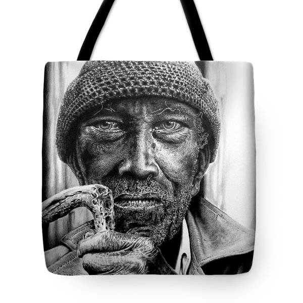 Man With Cane Tote Bag