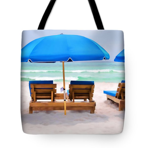Panama City Beach Digital Painting Tote Bag