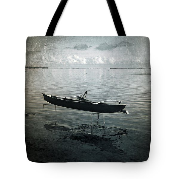 Tote Bag featuring the photograph Waiting In Blue by Lucinda Walter