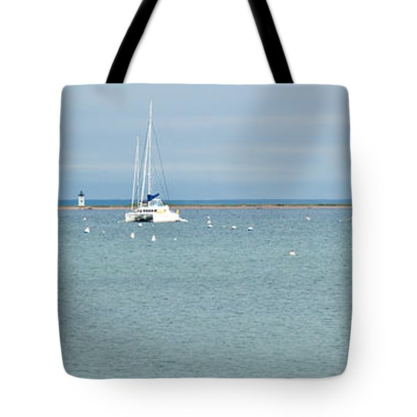 Waiting In Provincetown Tote Bag by Michelle Wiarda