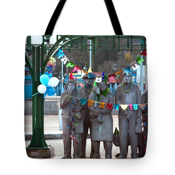 Waiting In The Interurban Tote Bag by Joanna Madloch