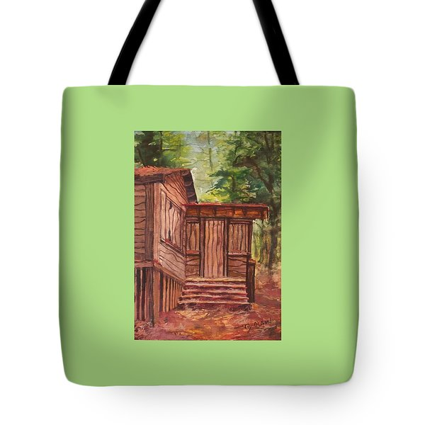 Tote Bag featuring the painting Waiting by Joy Nichols