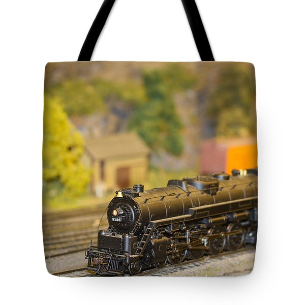 Tote Bag featuring the photograph Waiting Model Train  by Patrice Zinck