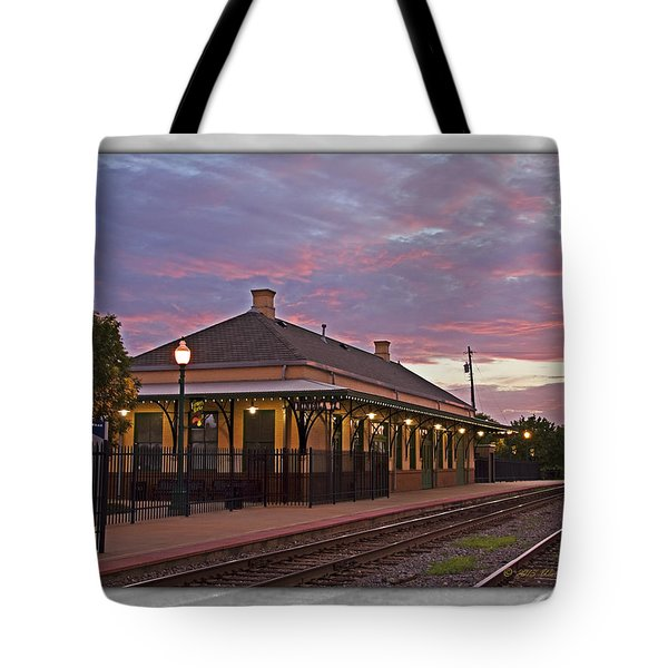Waiting On The Train Tote Bag