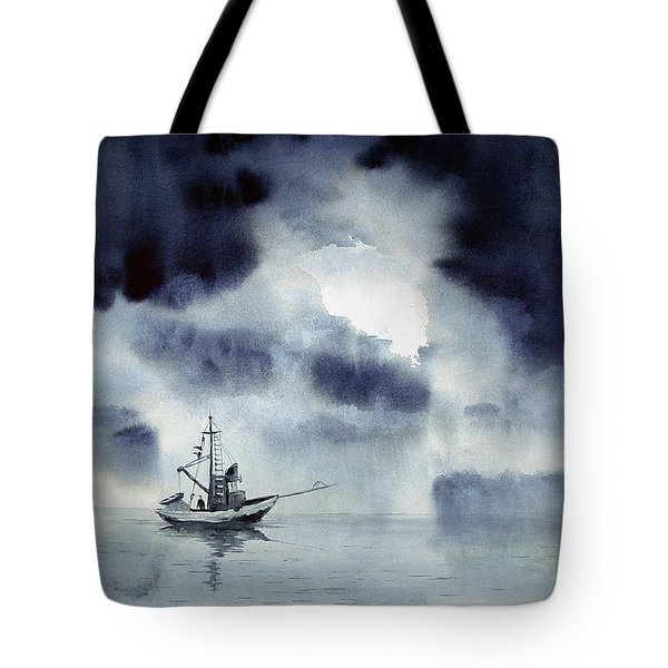 Waiting Out The Squall Tote Bag
