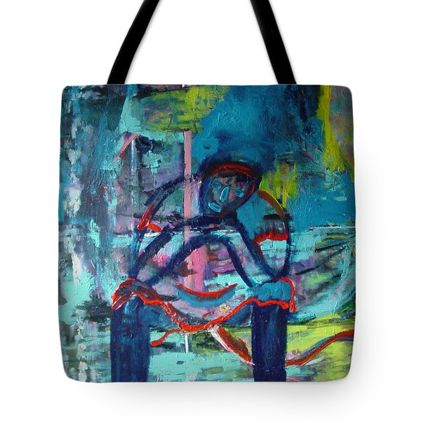 Waiting Tote Bag by Peggy  Blood