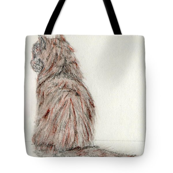 Tote Bag featuring the painting Waiting by Stephanie Grant