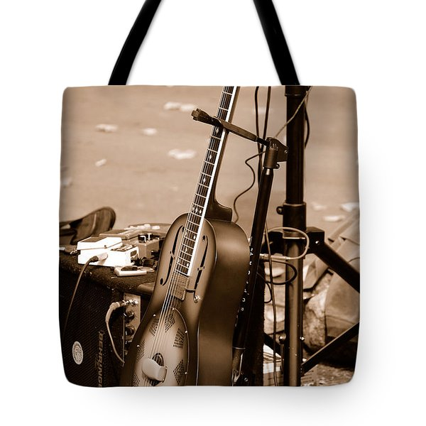 Waiting To Be Played Tote Bag by Holly Blunkall