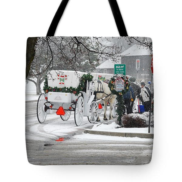 Waiting To Give A Ride Tote Bag by Janice Adomeit
