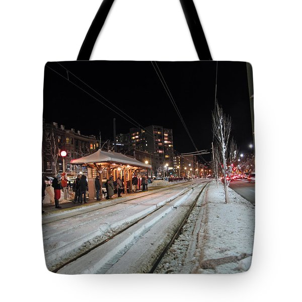 Waiting To Go Home Tote Bag by Barbara McDevitt