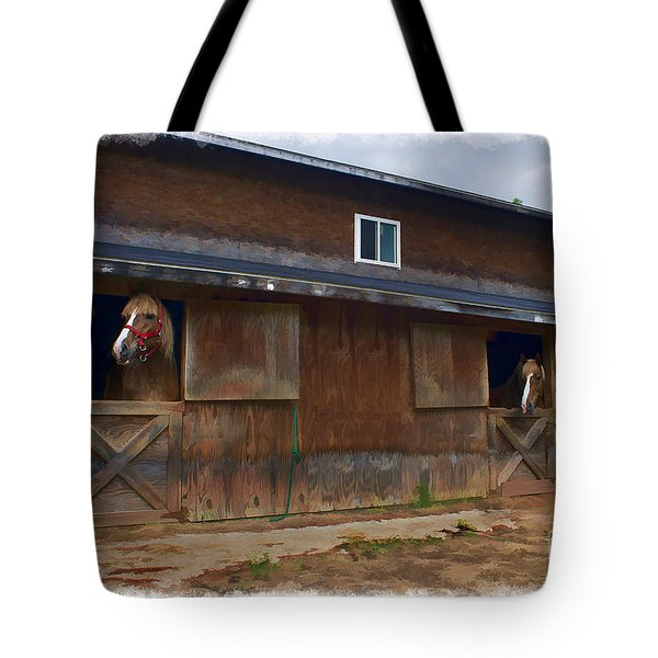 Waiting To Go Out In Field Tote Bag by Dan Friend