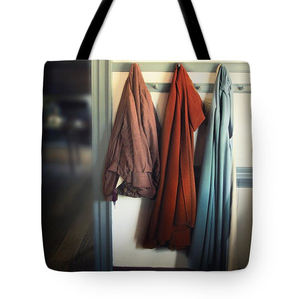 Waiting To Go Out Tote Bag by Margie Hurwich