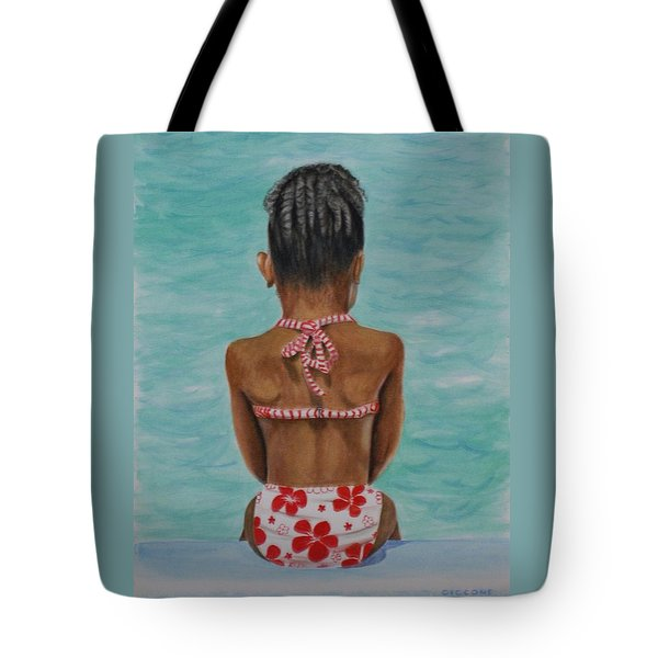 Waiting To Swim Tote Bag