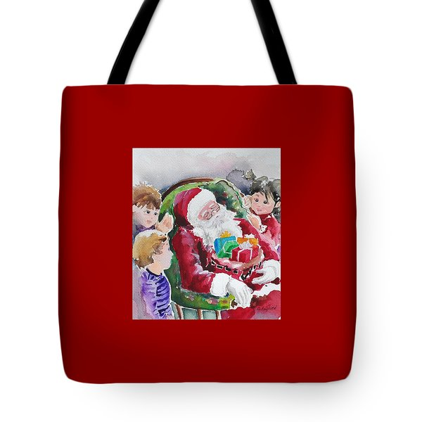 Waiting Up For Santa2 Tote Bag