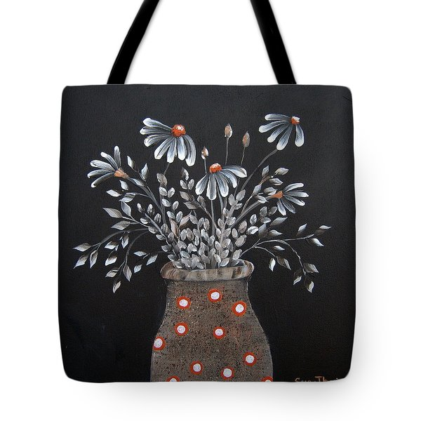 Wake Up And See The Flowers Tote Bag