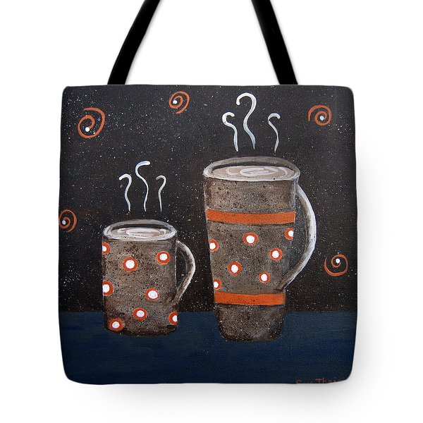Wake Up And Smell The Coffee Tote Bag by Suzanne Theis