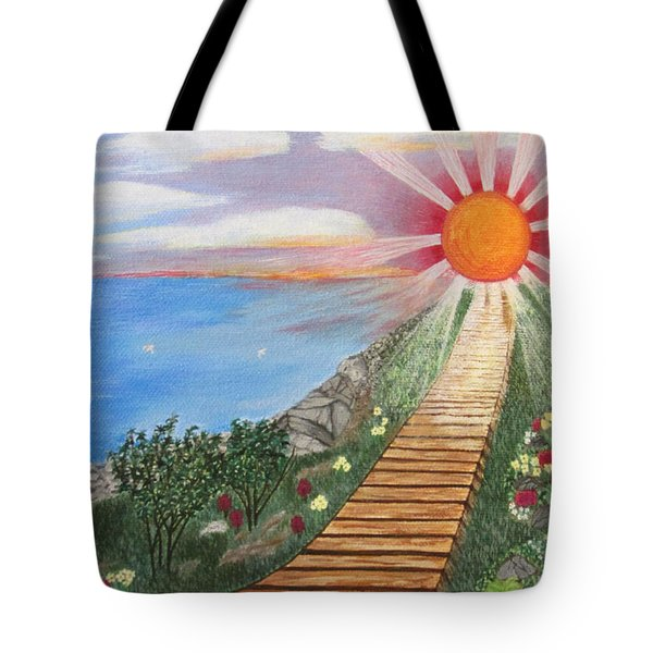 Tote Bag featuring the painting Waking Up Love by Cheryl Bailey