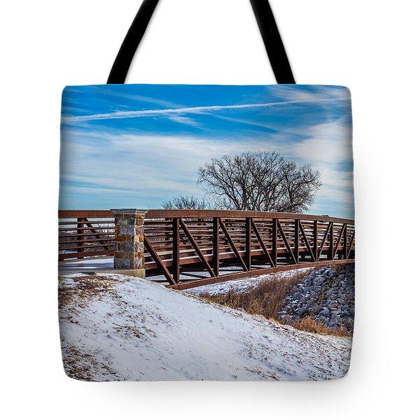 Walk Across Bridge Tote Bag