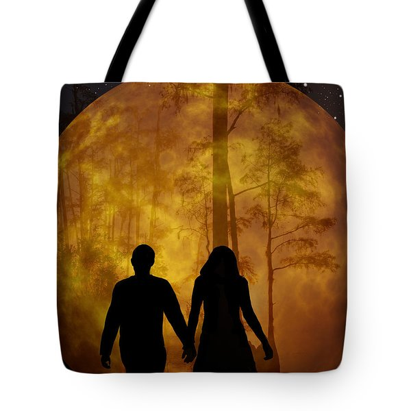 Tote Bag featuring the photograph Walk Among The Cypress by Ericamaxine Price
