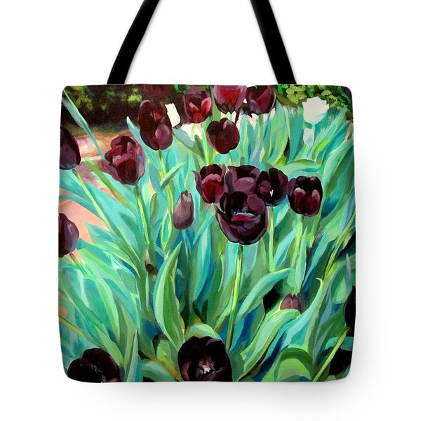 Walk Among The Tulips Tote Bag