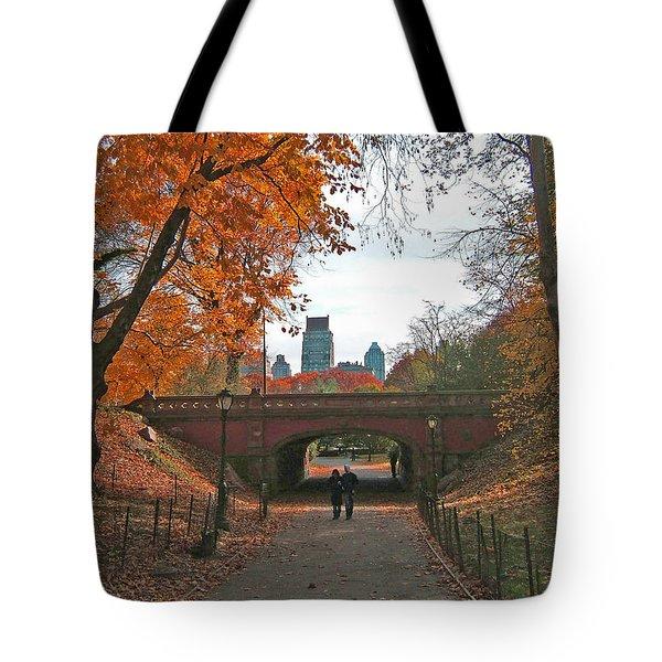 Walk In The Park Tote Bag by Barbara McDevitt
