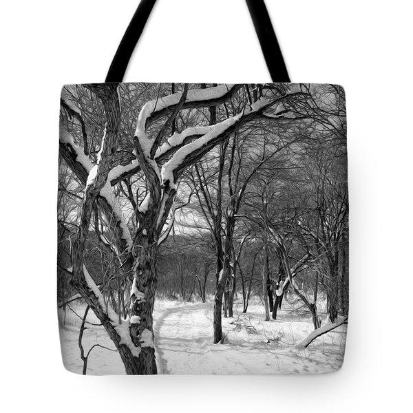 Walk In The Snow Tote Bag