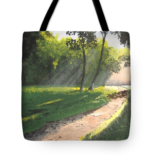 Walk Into The Light Tote Bag by Norm Starks