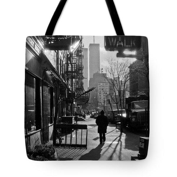 Walk Manhattan 1980s Tote Bag