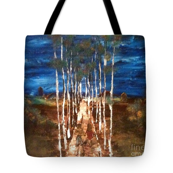 Tote Bag featuring the painting Walk Me Home by Denise Tomasura