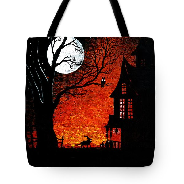 Walk Of The Catwitch Tote Bag by Margaryta Yermolayeva