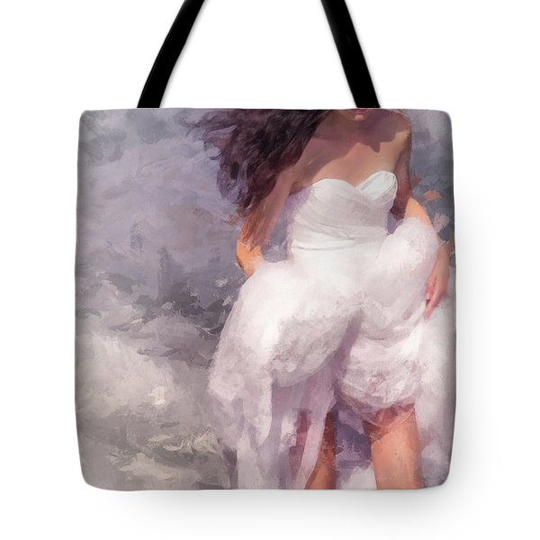 Walk Off The Earth Tote Bag by Jenny Rainbow