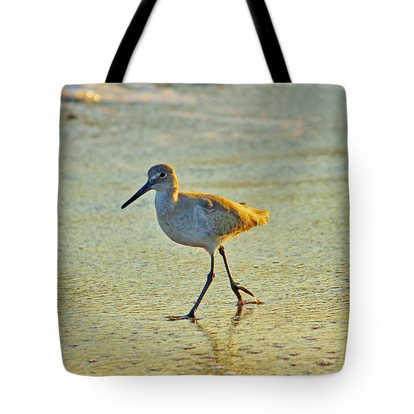 Tote Bag featuring the photograph Walk On The Beach by Cynthia Guinn