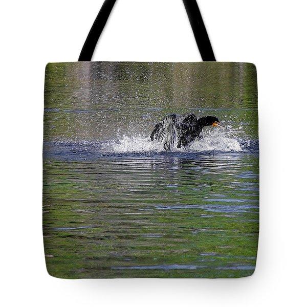 Walk On Water - The Anhinga Tote Bag by Christine Till