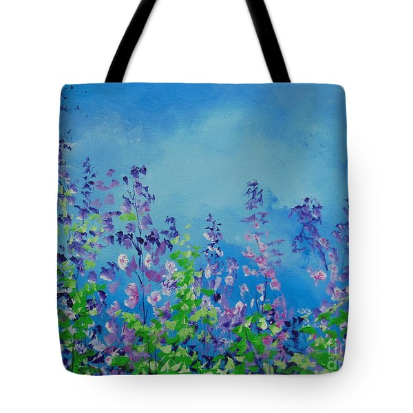 Walk Out Into The Fields Tote Bag by Dan Whittemore
