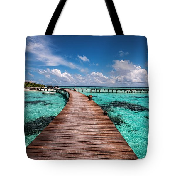 Walk Over The Water Tote Bag