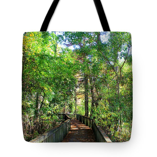 Walk This Way Tote Bag by Kathy  White