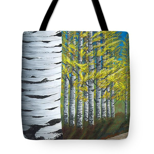 Walk Through Aspens Triptych 1 Tote Bag