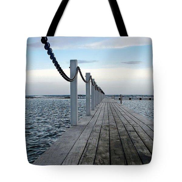 Walk To The Ocean Tote Bag by Kaye Menner